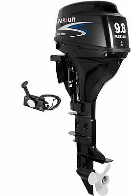 9.8 HP Outboard Motor with Electric Start and Remote Controls