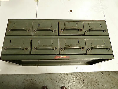 Vintage Equipto 8 Drawer Metal Heavy Duty Industrial Commercial Card Index File
