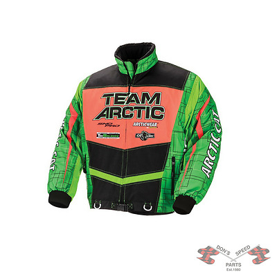 5260-365 Arctic Cat Men's Sno Cross Shell Flex Series Jacket - Green & Orange-LT
