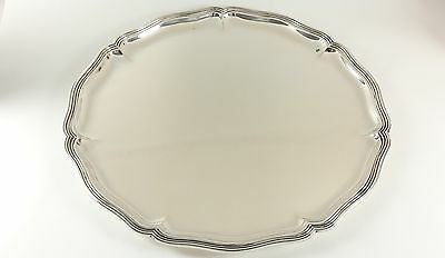 Heavy Antique German Silver Salver Koch & Bergfeld, Retailed By Gutruf 21.68 Ozt