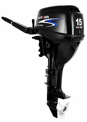 15 HP Parsun Outboard Motor - Long Shaft, Electric Start