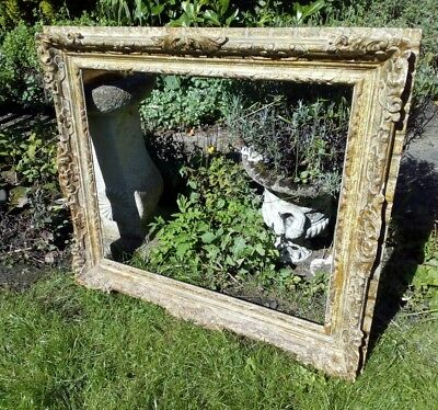 Hand Carved Ornate French Vintage Antique Style Gilt Picture Frame (At109)