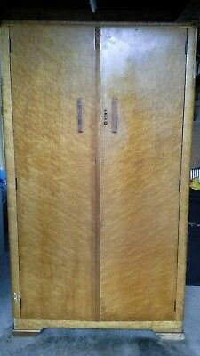 1950s  Art Deco Gentlemen's Maple wardrobe