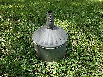 Vintage Galvanized Metal Tractor Funnel