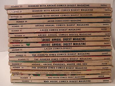 Vintage Archie & Jughead Comic Book Lot Of 17