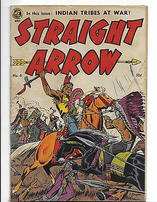 """""""STRAIGHT ARROW"""" #6 Comic Book From 1950"""