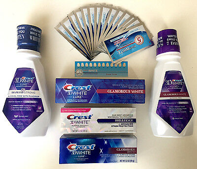Crest3D Toothpase Mouthwash & Onuge Whitestrips Teeth Whitening Auction - Choose