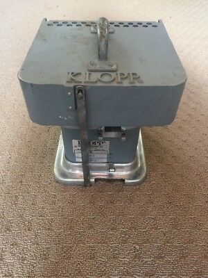 Klopp Coin Counter Model CM - Manual Crank Works Great - Wet Coins or Tokens