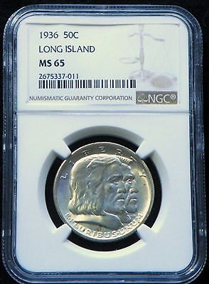 1936 MS-65 Long Island Only 81,826 Minted Early Commemorative Silver Half