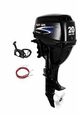 20 HP Parsun Outboard, Remote Controls, Electric Start, Short Shaft