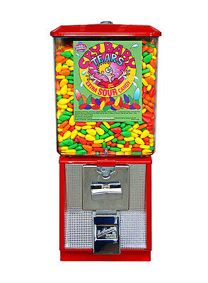 CANADA ONLY ! Professional grade RED  25c Gumball machine- Made in USA -