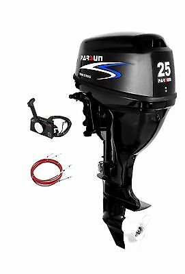 25 HP Parsun Outboard, Remote Controls, Electric Start, Short Shaft