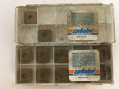 12 Inserts SECO Carboloy SNMA120416 SNMA 434 TP10 Square Carbide Insert Tool
