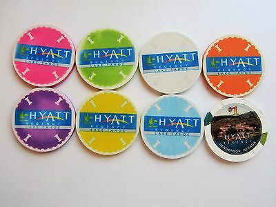 "Nevada Casinos - Lot "" R"" -   8  Obsolete Casino Chips"