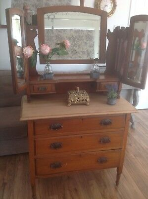 Edwardian dressing table, Chest of drawers, dressing table. Restoration Job.
