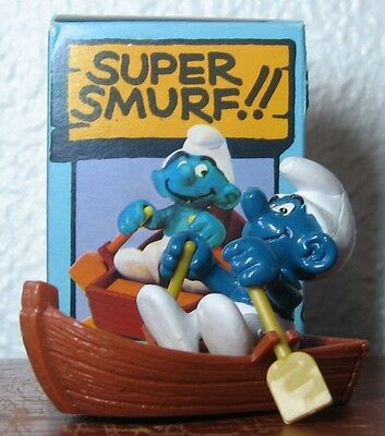 Smurfs -  Mint - Rowboat Smurf With Box!