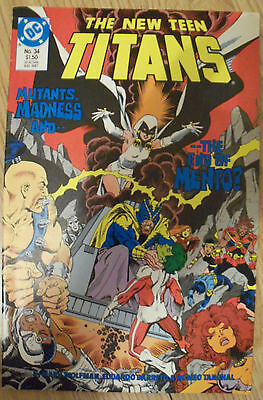 The New Teen Titans #34 (1987) Doom Patrol Mento VF Combined P&P Available