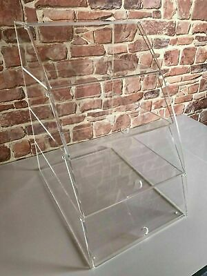 Bakery Display Cabinet Curved with 4 shelves with individual hinged doors