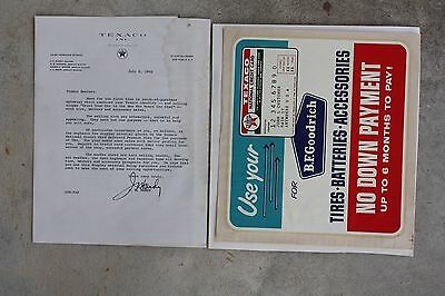 Texaco Window Decal Tires Batteries B.F. Goodrich Country Store Gas Motor Oil