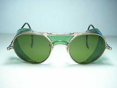 Vintage 1940's Bausch & Lomb Motorcycle Goggles Sunglasses RB3 Lenses 47mm