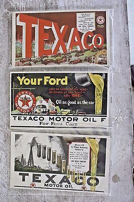 Texaco Gas Motor Oil Paper Advertisement Ford Automobile Postcard