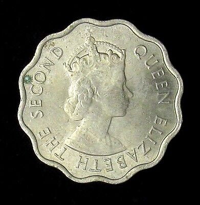 1954 Mauritius 10 Cents About Uncirculated