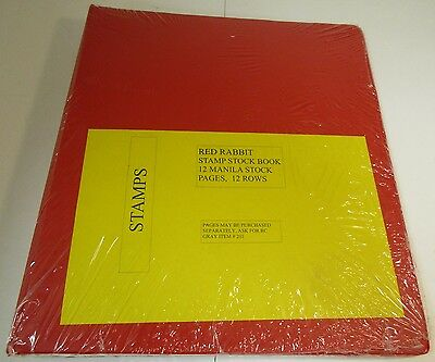 "Red Rabbit Stamp Stock Book ""binder Only"" 4 Pack  With Free Shipping!!!"