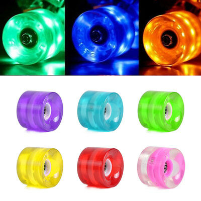 LED Flash Skateboard PU Wheel For Street Longboard Banana Board Kids Adults