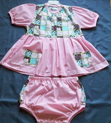 "ADULT 40"" Pink, Cotton Dress, & Panties,  By  KT"