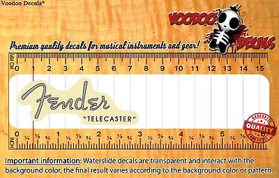Fender Telecaster 1952 Vintage Look (Grey Logo) Headstock Waterslide Decals