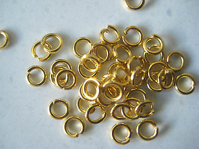Gold Plated Jump Rings - Pack Of 50 - 3.5Mm