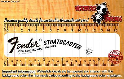 Fender Stratocaster 1969 Headstock Waterslide Decals