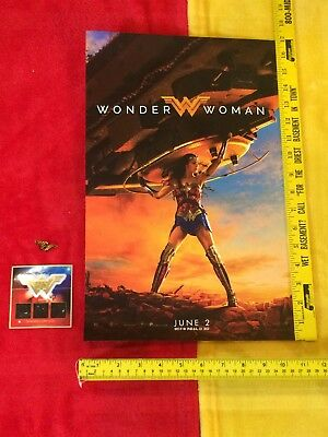 Wonder Woman Gal Gadot Tank movie poster lot,Justice League, Very Rare Original
