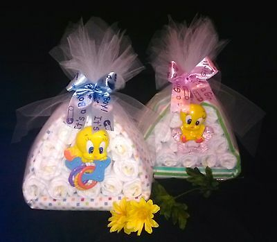 Looney Tunes Diaper Cake Piolin - baby shower decoration or gift