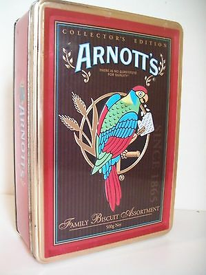 Arnotts Biscuit Tin - Parrot Tin - Collecters Edition - 2006