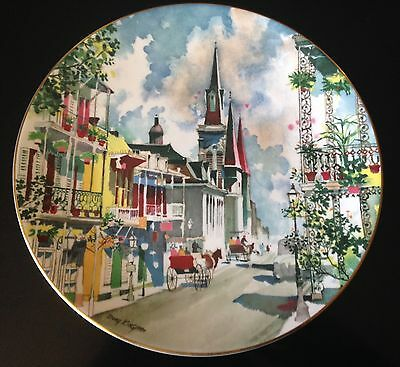 Royal Doulton French Quarter New Orleans Dong Kingman Collector Plate