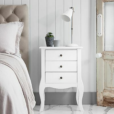 Bedside Chest Side Table with Drawers Cabinet Camille