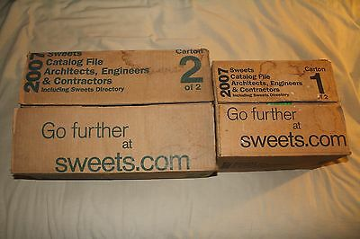 NEW 2007 Sweets Directory McGraw-Hill Calalogs Full Set Architects Engineers