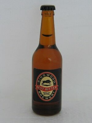 BEST BITTER BEER from RING WOOD BREWERY  Miniature 3 3/8 inch Glass Bottle