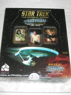 Star Trek The Original Series In Motion Trading Cards Box Factory Sealed !bonus!