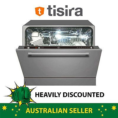 Tisira Mini Compact Stainless Steel Under Bench Built In Dishwasher (TDW6SS)