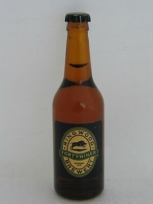 FORTYNINER STRONG ALE from RING WOOD BREWERY Miniature 3 3/8 inch Glass Bottle