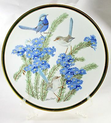 Songbirds of the World Franklin Porcelain by Wedgwood Turquoise Wren Plate