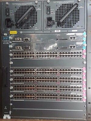 Cisco Catalyst 4510R chassis w/  2 X SUP-V, 5 X 48 port Gb Line Cards