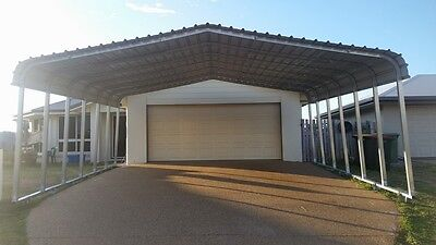 6x6m Shade Shed, Steel Carport, Garage, Yard Sheds, DIY