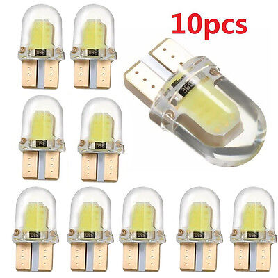 10pc LED T10 194 168 W5W COB 8SMD CANBUS Silica Bright White License Light Bulbs