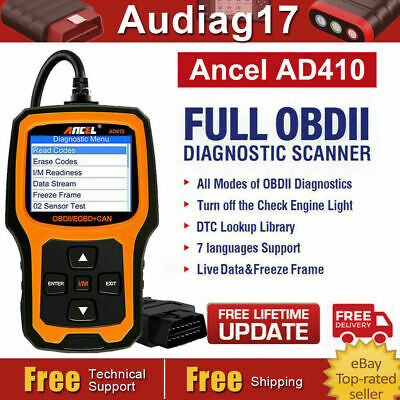 AD410 OBD2 Auto Code Reader Live Data Auto Scanner Tool Car Engine Diagnostic