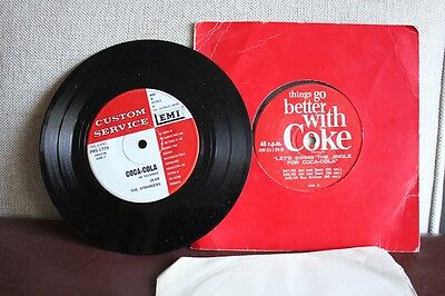"2 X Vintage 60's Coke Coca-Cola 7"" vinyl Swing the Jingle Supremes EMI"