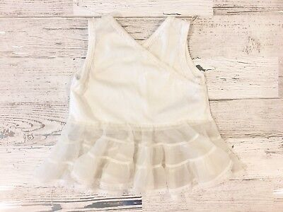 Sweet Vintage Girls Starting Out Full White Slip with Lace 18M USA