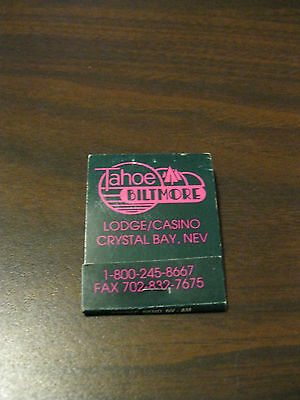 Collectible Matchbook: Tahoe Biltmore Lodge/Casino Crystal Bay, Nev Green w/Pink